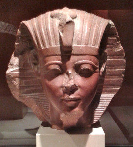 Sphinx head of a young Amenhotep II. Musee du Louvre, France