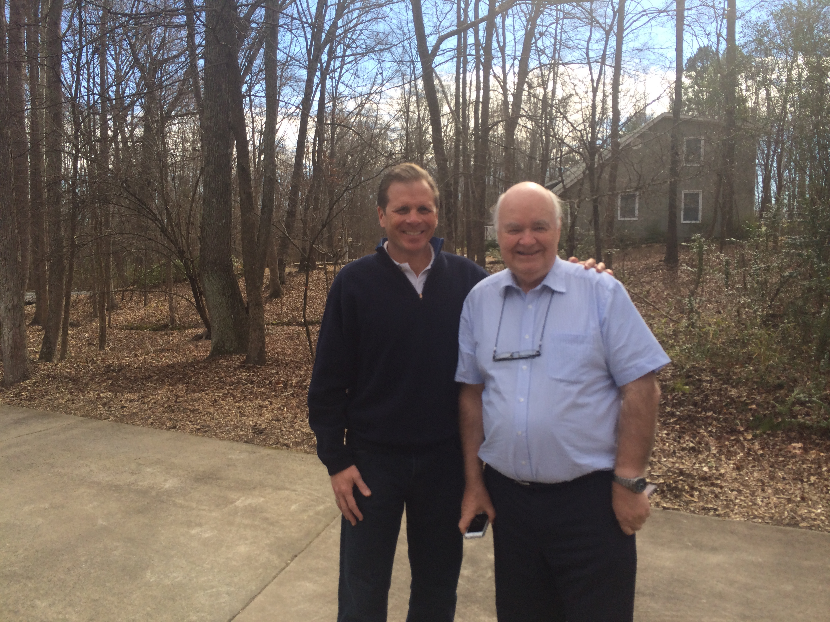 Frank Turek with the world's most credentialed and likable apologist, Dr. John Lennox.