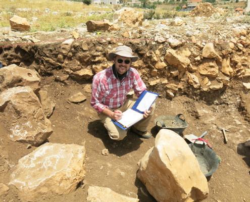 Late Bronze age Canaanite wall at Khirbet el-Maqatir (Joshua's Ai)
