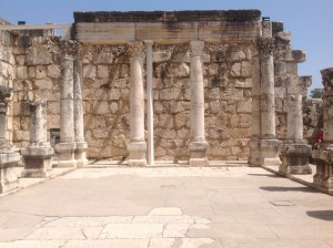 Synagogue at Capernaum where Jesus spent much of his time.