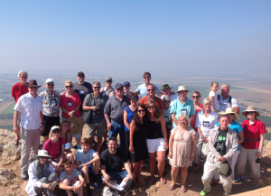 Our group at the precipice at Nazareth.