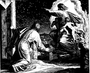 God tells Abraham to count the stars (Gen. 15:5)