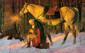 george Washington praying