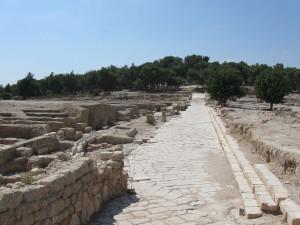 Cardo (road) at Sepphoris