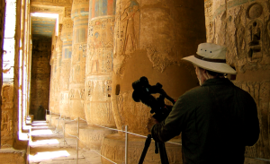 Filmaker Tim Mahoney in Luxor, Egypt