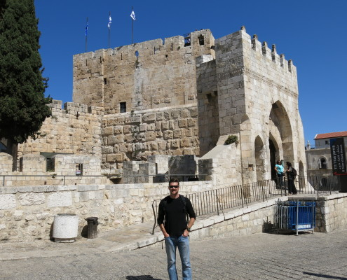 The Tower of David in Jerusalem   - believed to be the location where Jesus stood trial before Herod (Antipas)