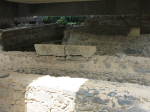 Ruins of the 5th Cent. Basilica at Capernaum - built over the house of St. Peter