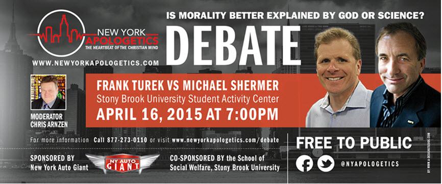 Turek-Shermer Debate:  Is Morality Better Explained by God or Science?