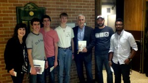 Hickory Grove Christian High School students in Charlotte, NC with apologist J. Warner Wallace