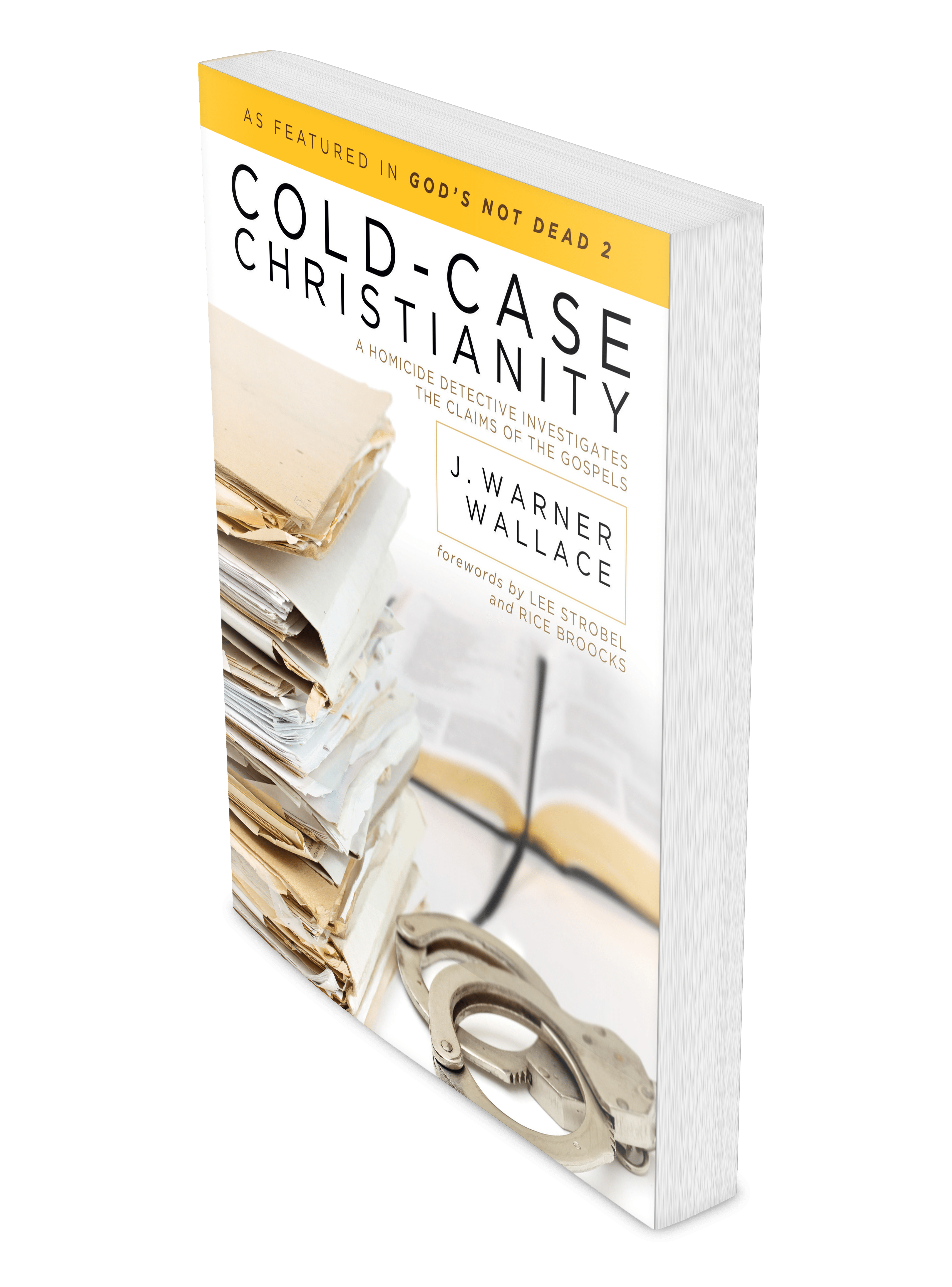 Cold Case Christianity Book angled pages