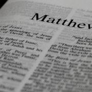 Matthew Gospel New Testament
