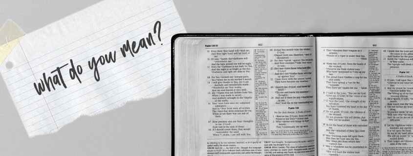 Handling Bible Questions You Can't Answer