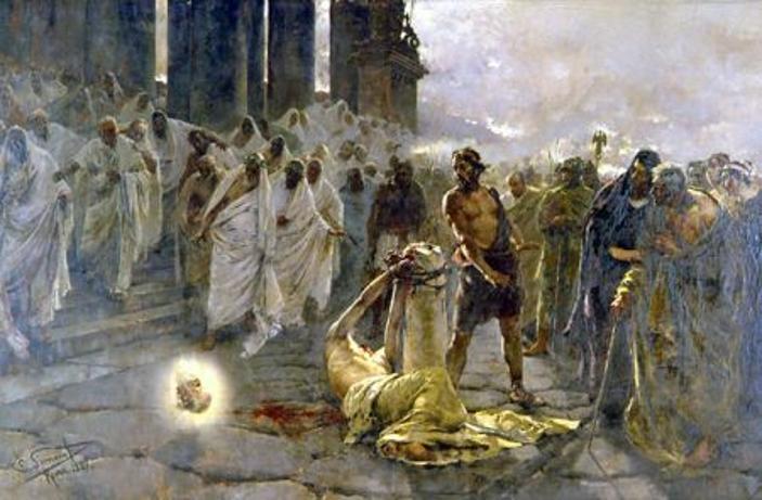 The Beheading of Saint PaulbyEnrique Simonet, 1887